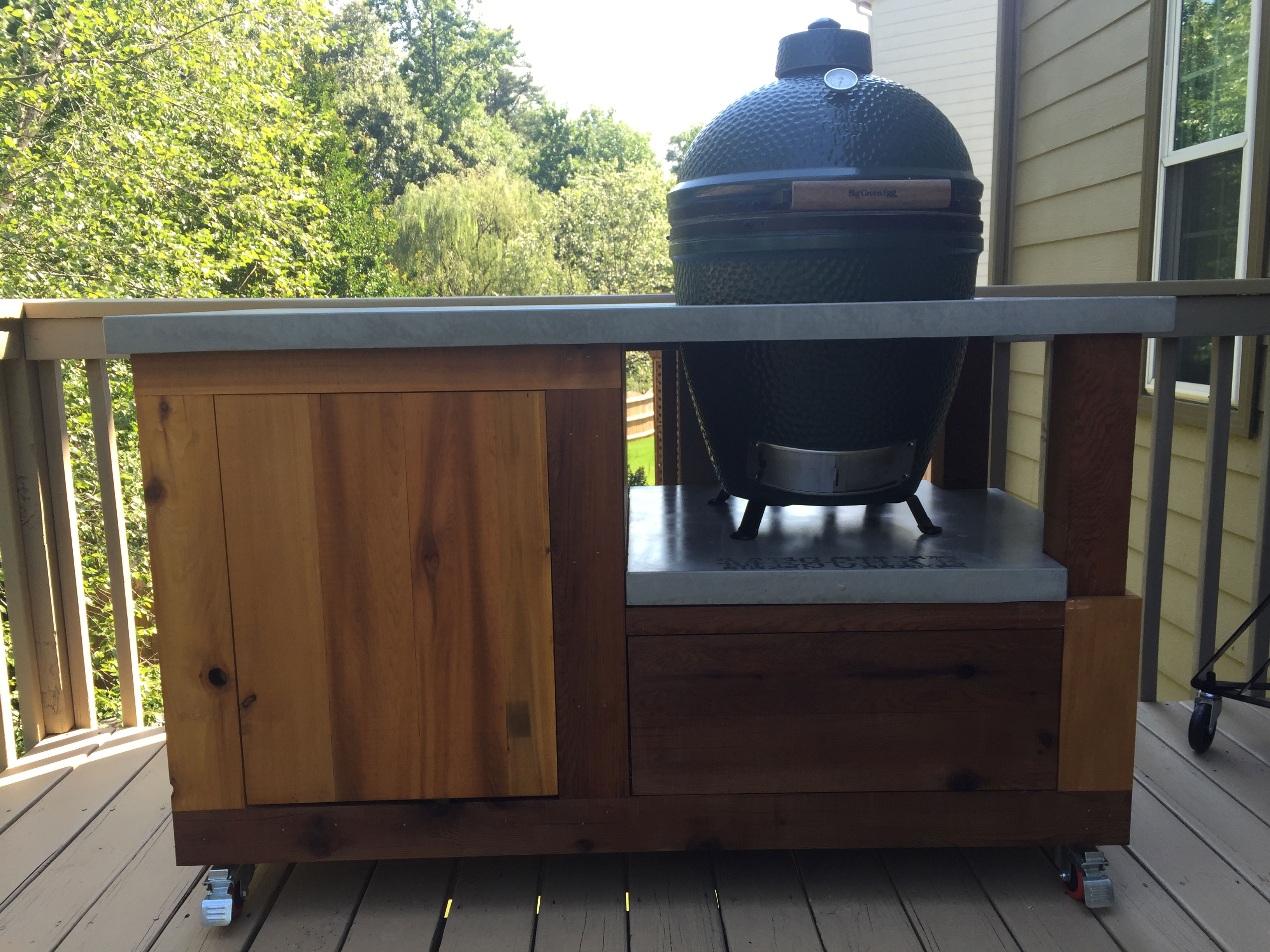 large green egg table example